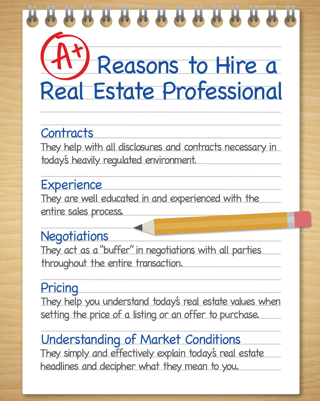 A+ Reasons to Hire a Real Estate Pro [INFOGRAPHIC]   Simplifying The Market