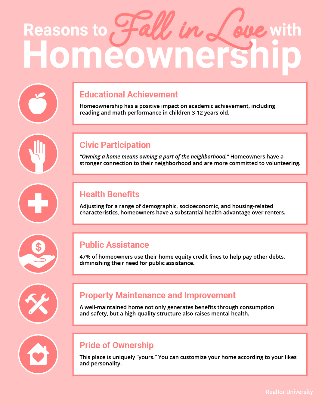 Top Reasons to Love Homeownership [INFOGRAPHIC] | Simplifying The Market